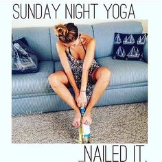 Commit to doing yoga at least once a week. Sunday Humor, Sunday Quotes, Brunch Quotes, Daily Quotes, Yoga Humor, Night Yoga, Sunday Night, Sunday Funday, Yoga Quotes