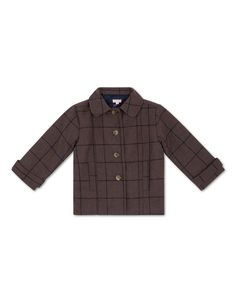 Manteau de drap à carreaux bleus pour petit garçon (1-6 ans) | Gocco  - Tienda…