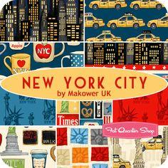 New York City Yardage Makower UK for Andover Fabrics - Fat Quarter Shop