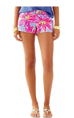 """3"""" Walsh Short - Lilly Pulitzer Dahlia Purple Party Girl"""