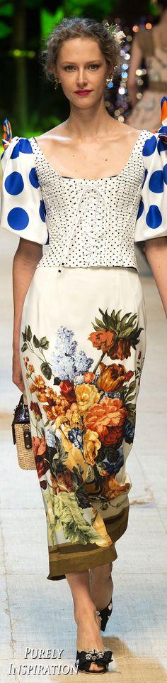 Dolce and Gabbana SS2017 Women's Fashion RTW   Purely Inspiration