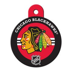 Quick-Tag Chicago Blackhawks NHL Personalized Engraved Pet ID Tag at PETCO