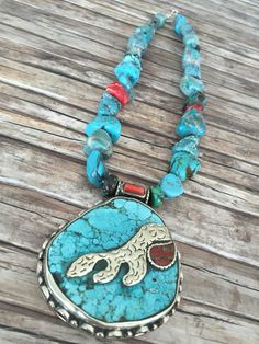 Gorgeous antique beads made in to a bright & chunky necklace by Bedes Beads How To Make Beads, Turquoise Necklace, Designers, Bright, Antiques, Handmade, Jewelry, Fashion, Antiquities