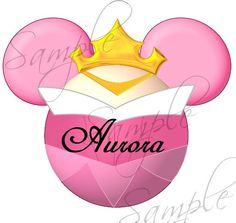 Aurora (Sleeping Beauty) Character inspired DIGITAL printable Mickey Head file DIY on Etsy, $3.00