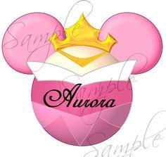 Aurora (Sleeping Beauty) Character inspired DIGITAL printable Mickey Head file DIY on Etsy, $3.00