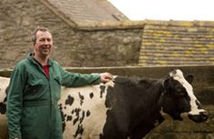 Terry Prince and his favourite Cow