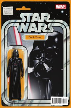 Darth Vader Cover G John Tyler Christopher Darth Vader Star Wars Action Figure Variant Comic Star Wars Comic Books, Star Wars Comics, Star Wars Toys, Star Wars Characters, Marvel Comics, Darth Vader Action Figure, Star Wars Action Figures, Skottie Young, Star Wars Quotes