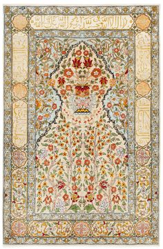 Silkeborg Rug Low Pile Blue Traditional Green And Red