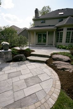 "Receive wonderful recommendations on ""patio pavers ideas"". They are actually readily available for you on our site. Stone Patio Designs, Backyard Design, Brick Patios, Patio Design, Outdoor Patio Decor, Patio Stairs"