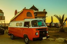 Travel in comfort with Combitrip's vintage glamping Volkswagen. I just need to have mine in pink.