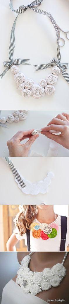 (+1) тема - Оригинальное текстильное ожерелье своими руками | Очумелые ручки