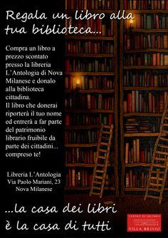 Locandina Regala un libro alla tua biblioteca...