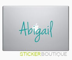 Custom Name  Macbook Decal Macbook Decals by StickerBoutique, $6.50
