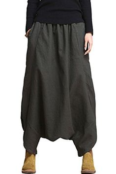 Mordenmiss Women's Casual Drop Crotch Harem Pants (Style ...…                                                                                                                                                                                 More