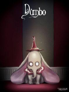 Dumbo: | So würden Disney-Filme aussehen, wenn Tim Burton Regie geführt hä