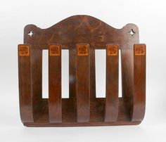 James Miles: Arthur Simpson of Kendal Inlaid Oak Paper Rack (Five Arm), £475