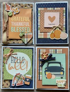 Card Making Templates, Card Making Kits, Paper Cards, Diy Cards, Best Wishes Card, Fall Cards, Card Kit, Homemade Cards, Scrapbook Journal