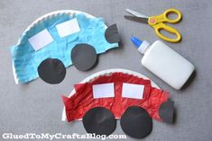 Paper Plate Cars {Kid Craft}-fun for Transportation theme! Transportation Activities, Art Activities, Toddler Activities, Playgroup Activities, Daycare Crafts, Kids Crafts, Easy Crafts For Toddlers, Car Crafts, Toddler Arts And Crafts