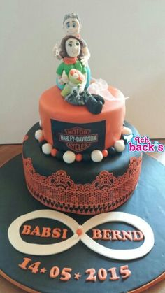 Harley davidson wedding cake