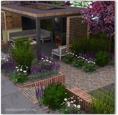 Back Garden Design, Backyard Garden Design, Backyard Cabin, Outdoor Gazebos, Outdoor Gardens, Garden Pizza, Small Back Gardens, Contemporary Garden, Garden Features