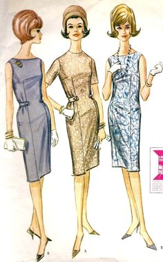 1960s Misses Slim Dress Vintage Sewing Pattern by MissBettysAttic
