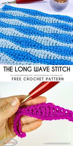 Today we present here most sharable patterns of Wave Stitch. This is occasion to chose the right one for next project. If you can decide which is the best one Love Crochet, Diy Crochet, Crochet Crafts, Crochet Projects, Crochet Ideas, Diy Projects, Crochet Designs, Crochet Patterns, Crochet Afgans