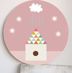 Image of Cuadro Infantil Mi casita- My home wall art