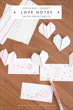Origami Heart Love Notes - How To Make An Origami Heart - The Connection We Share