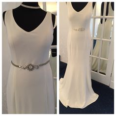 Gorgeous white backless dress with mermaid style hem