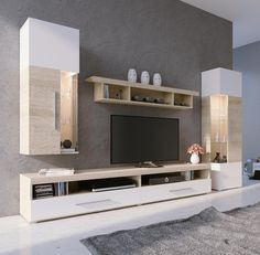 Tv Console Design, Tv Unit Design, Lcd Units, Tv Panel, Tv Sets, Party Table Decorations, Furniture Inspiration, Furniture Ideas, Tv Cabinets