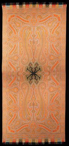 Paisley Shawl, 1860–69. French.  wool