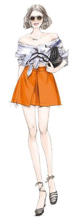 xunxun-missy fashion illustration