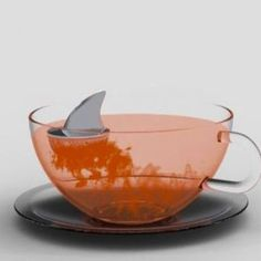 "Shark Fin ""Sharky"" Stainless Steel Loose Tea Infuser"