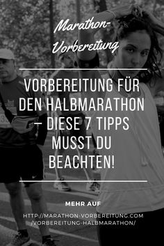 Vorbereitung auf den Halbmarathon - Diese 7 Tipps musst du beachten #halbmarathon Runners World, Marathon Training, Fitness Workouts, Gewichtsverlust Motivation, Triathlon, Jogging, Health Fitness, Running, Sports