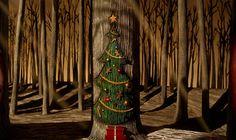 the doors, town door, christma town, holiday tree, christma art, christmas door