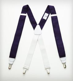 Navy & White Heritage Suspenders in Men's Accessories by Everett on Scoutmob Shoppe.