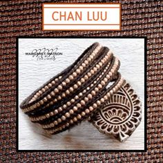 CHAN LUU'S  ROSE GOLD WRAP BRACELET ON BROWN LEATHER IS PERFECT FOR FALL. http://www.matsonjewelry.com/designer-jewelry-geneva-il/chan-luu/