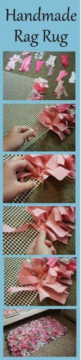 How to make a rag rug!!! I started one a long time ago they take forever!