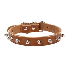 Aolove Basic Classic Adjustable Genuine Cow Leather Pet Collars for Cats Puppy Dogs >>> Check out this great product. (This is an affiliate link and I receive a commission for the sales)