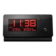 Slim RF Projection Clock with InOut Temp
