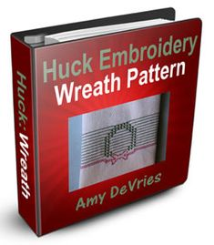 Here's the wreath pattern I designed. Embroidery Supplies, Embroidery Patterns, Huck Towels, Swedish Weaving Patterns, Swedish Embroidery, Clothes Pin Wreath, Monks Cloth, Chicken Scratch, New Pins
