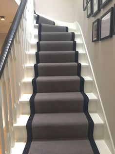 Carpet Runners For Stairs Uk Hallway Carpet, Carpet Stairs, Wall Carpet, Diy Carpet, White Carpet, Cheap Carpet, Front Hallway, Hallway Designs, House Entrance