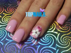 Acrylic Nails with Floral designs painte by TopnailsChile from Nail Art Gallery