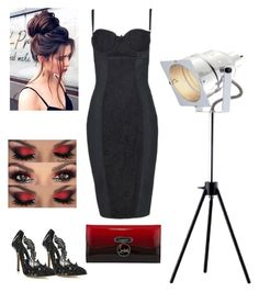 going out by cheyenne-de-jongh on Polyvore featuring polyvore Mode style Dolce&Gabbana Oscar de la Renta Christian Louboutin Home Decorators Collection fashion clothing