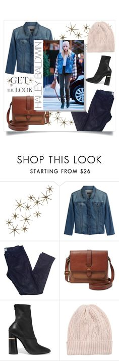 """""""Winter Style: Get-The-Look: Hailey Baldwin"""" by zandraceralline ❤ liked on Polyvore featuring Global Views, Mother, Vanessa Bruno Athé, FOSSIL, 3.1 Phillip Lim and Muk Luks"""