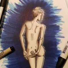 "Polubienia: 9, komentarze: 1 – Arek Borowski (@borowskiarek) na Instagramie: ""#drawing #girl #body #promarker"""