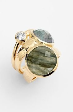 Free shipping and returns on Melinda Maria 'Margo' Stack Ring at Nordstrom.com. Gleaming joined ring bands host semiprecious-stone and crystal settings for a glamorous stacked-look statement ring.
