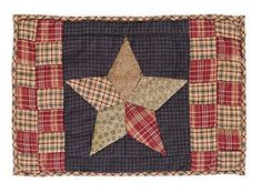 Pick up our Arlington Patchwork Star Quilted Placemat - Set of 2 to make a fantastic tablescape. Pair these sweet placemats with your favorite dinnerware along with a centerpiece to impress your guests. https://www.primitivestarquiltshop.com/products/arlington-quilted-patchwork-star-placemat-set-of-2 #primitivekitchen #quiltedplacemats