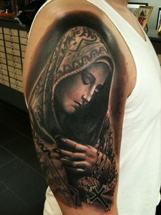 Nice Virgin Mary Tattoos for Men