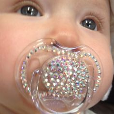 Blinged Out Baby Items | Blinged out binky!